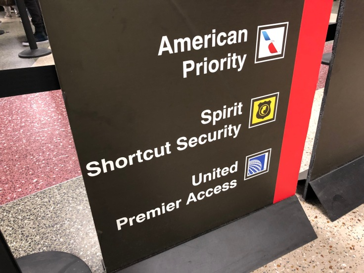 spirit airlines airport priority security