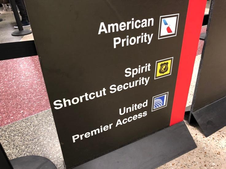 spirit airlines airport priority security