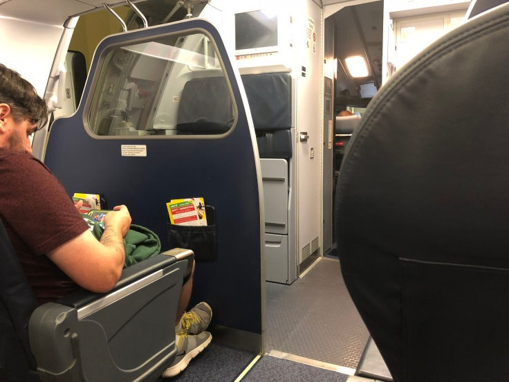 spirit airlines hard big front cabin view