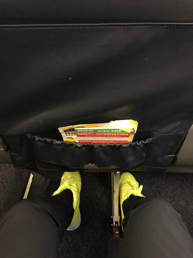 spirit airlines hard big front front view legroom