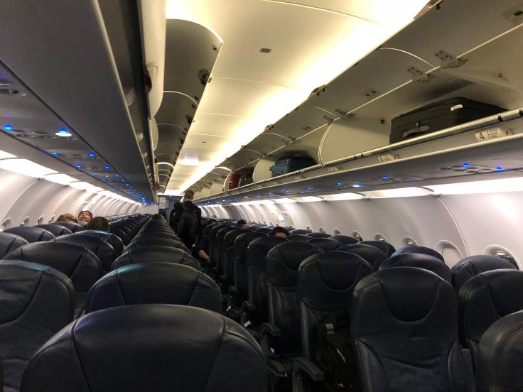 spirit airlines hard cabin view