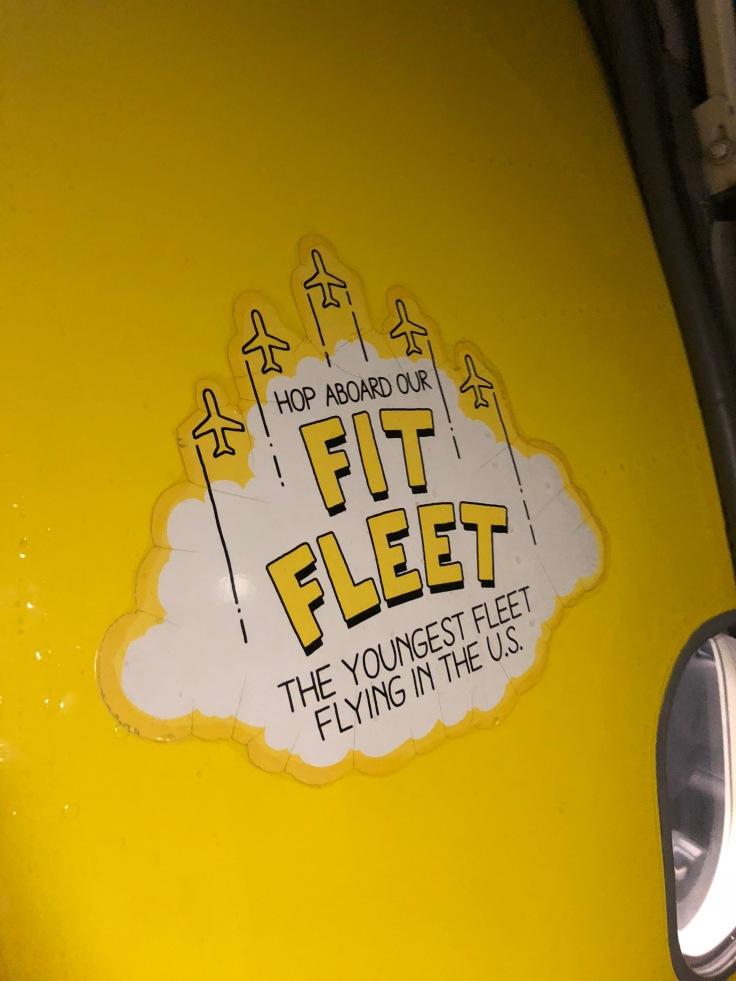 spirit airlines hard fit fleet sign