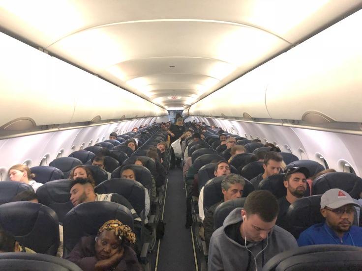 spirit airlines hard full cabin view