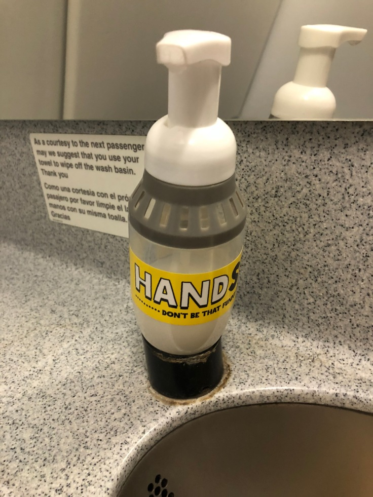 spirit airlines hard lavatory soap