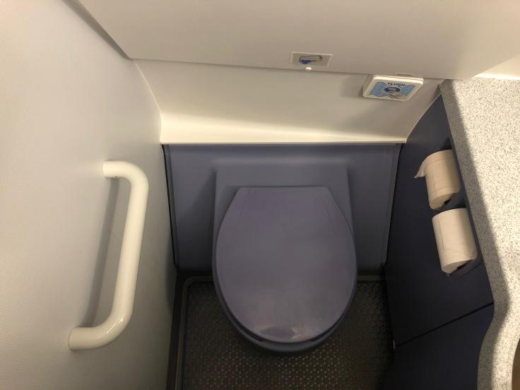 spirit airlines hard lavatory toilet