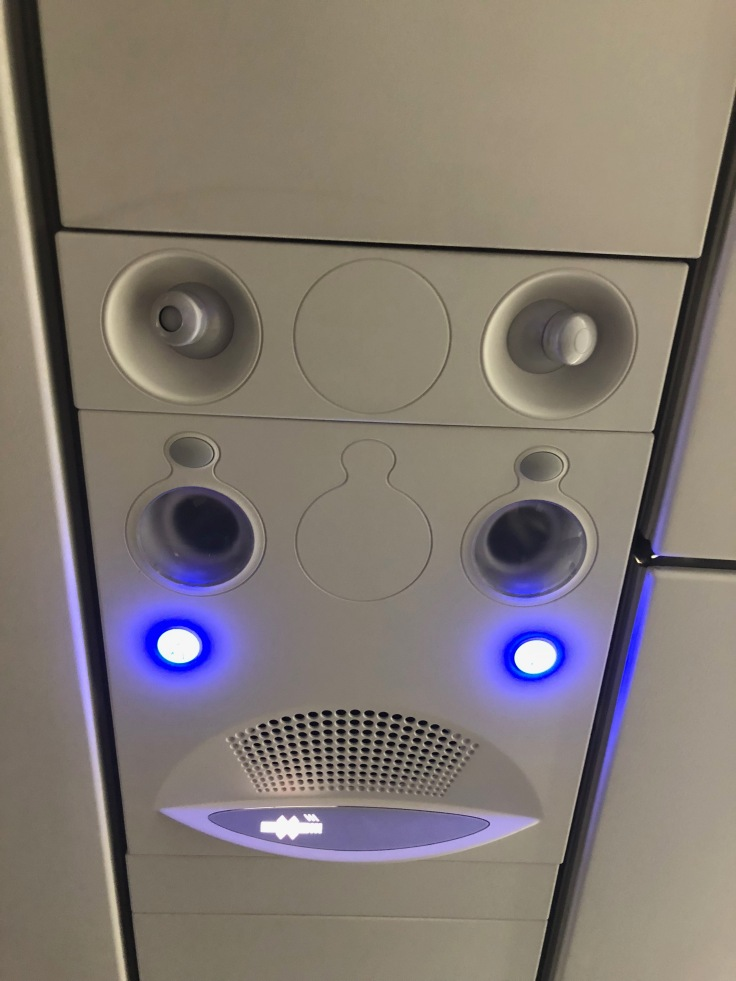 spirit airlines hard overhead panel