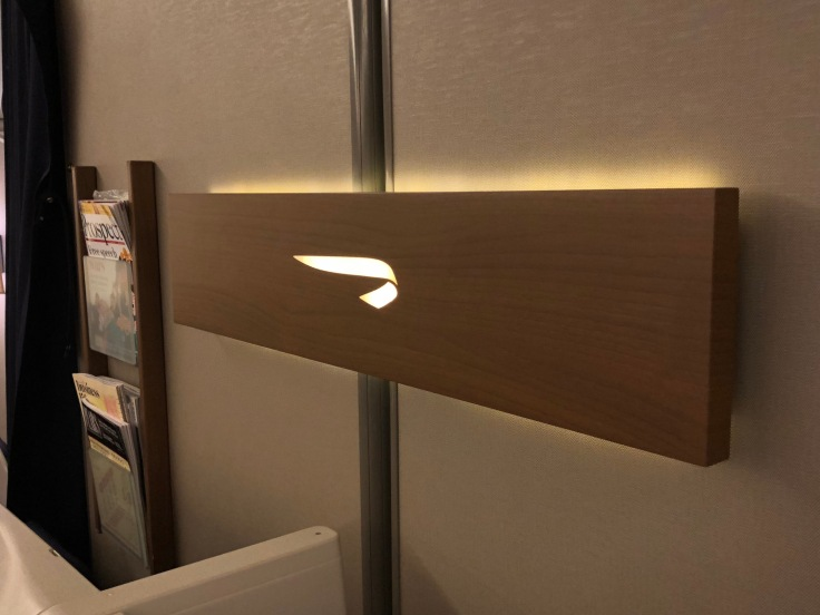 british airways club world cabin bulkhead accent