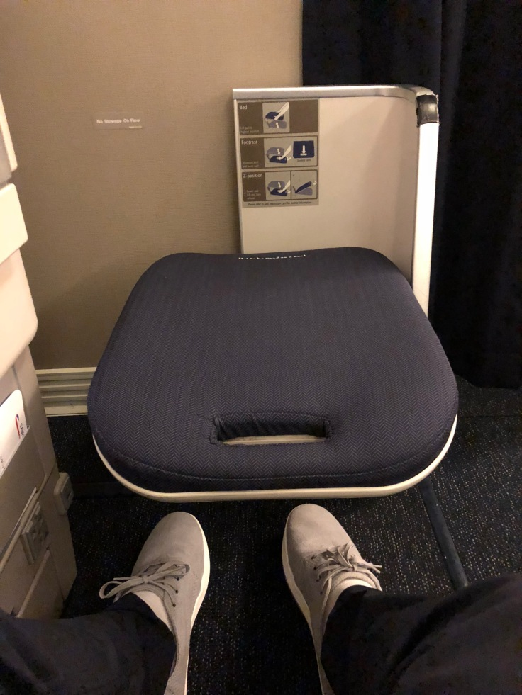 british airways club world hard seat legrest ottoman released floor space
