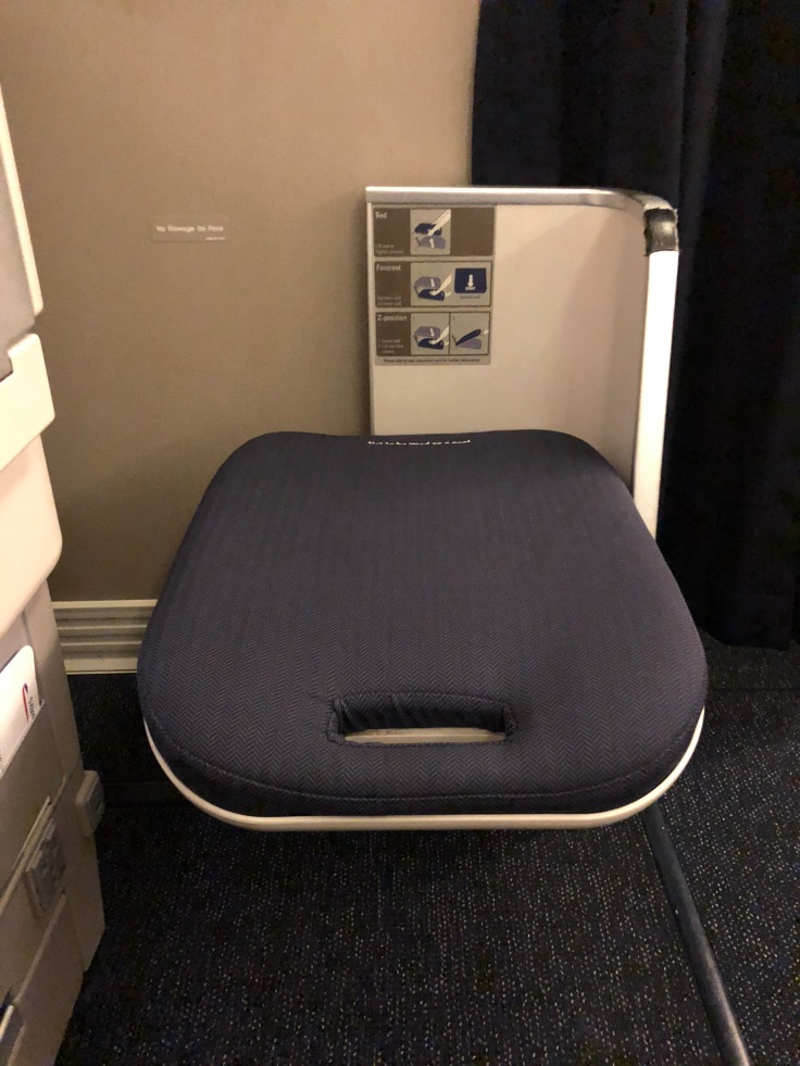 british airways club world hard seat legrest ottoman released