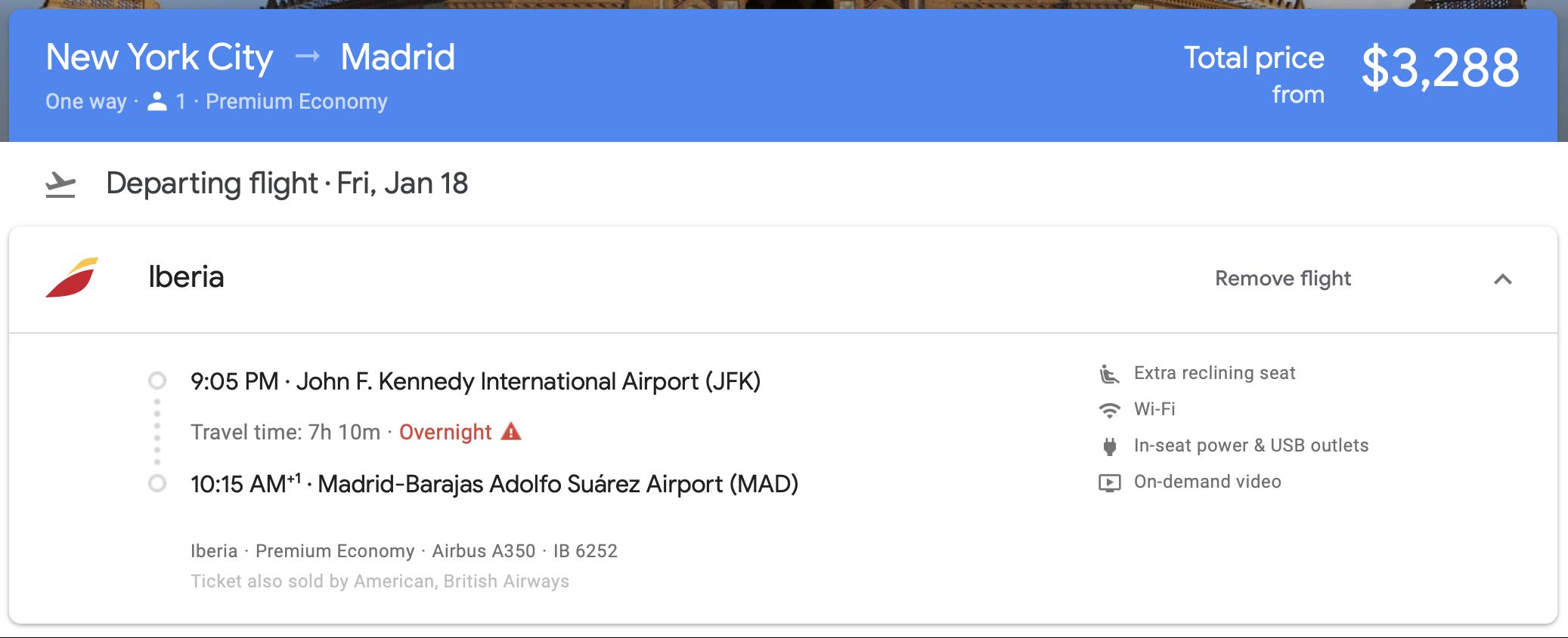 2019 iberia premium economy 00 google flights