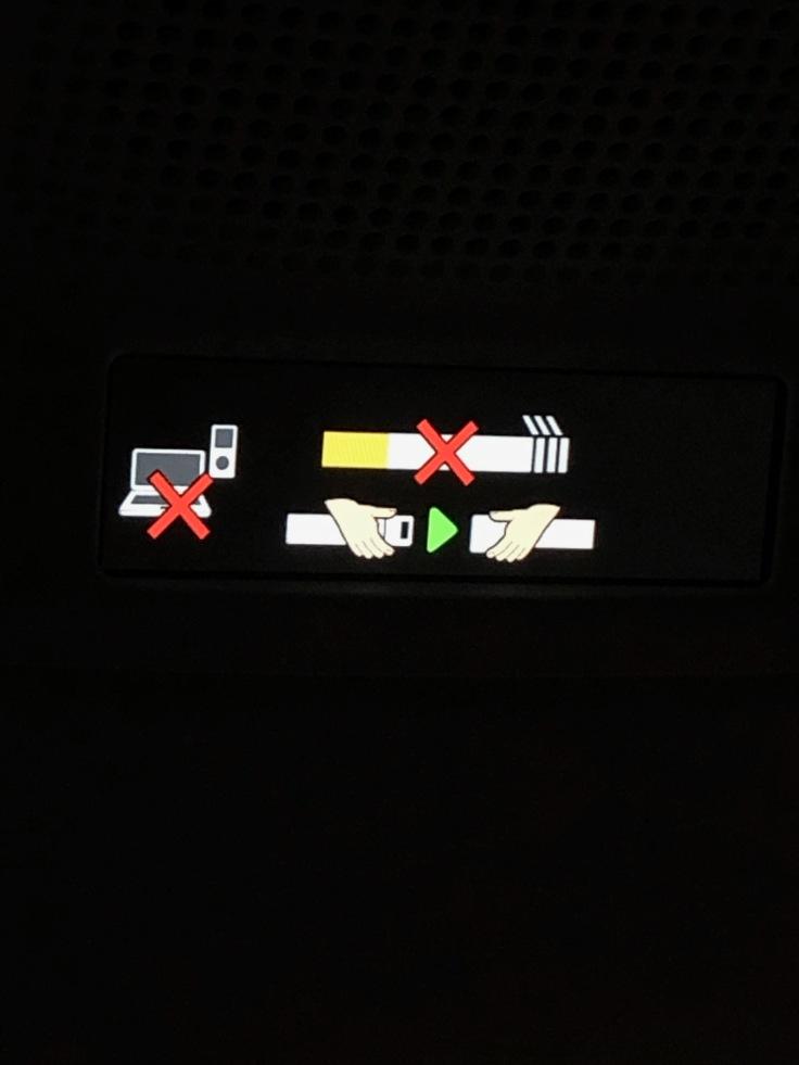 2019 iberia premium economy 02 cabin overhead digital signage