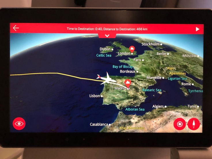 2019 iberia premium economy 04 ife moving map pre descent