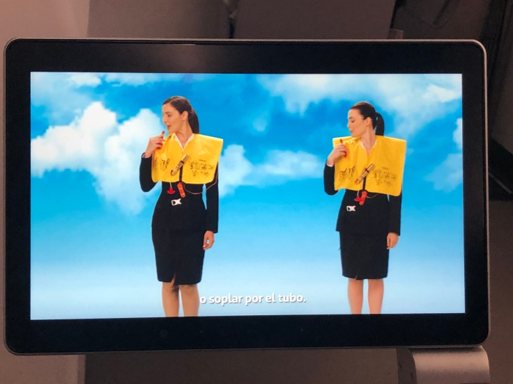 2019 iberia premium economy 04 ife safety video