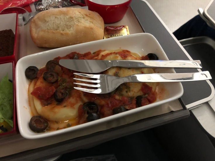 2019 iberia premium economy 06 01 dinner ravioli