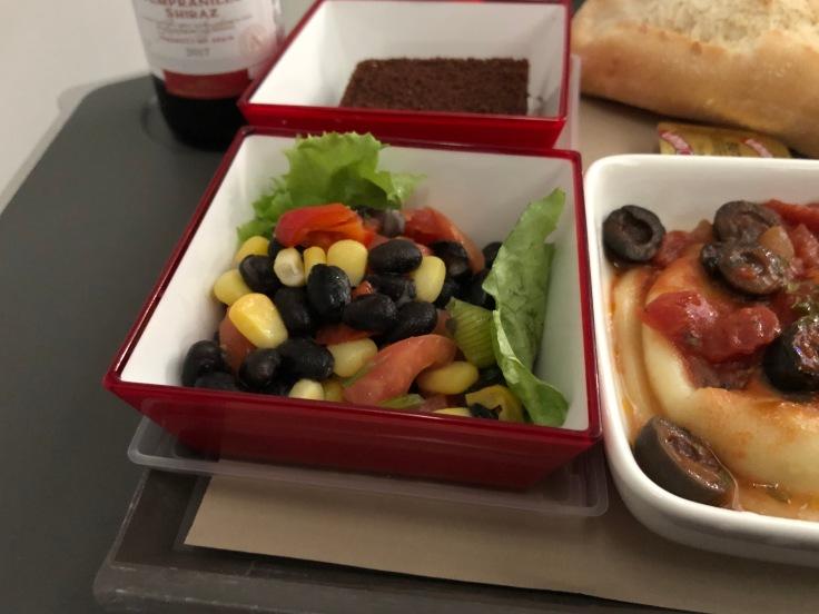 2019 iberia premium economy 06 01 dinner salad