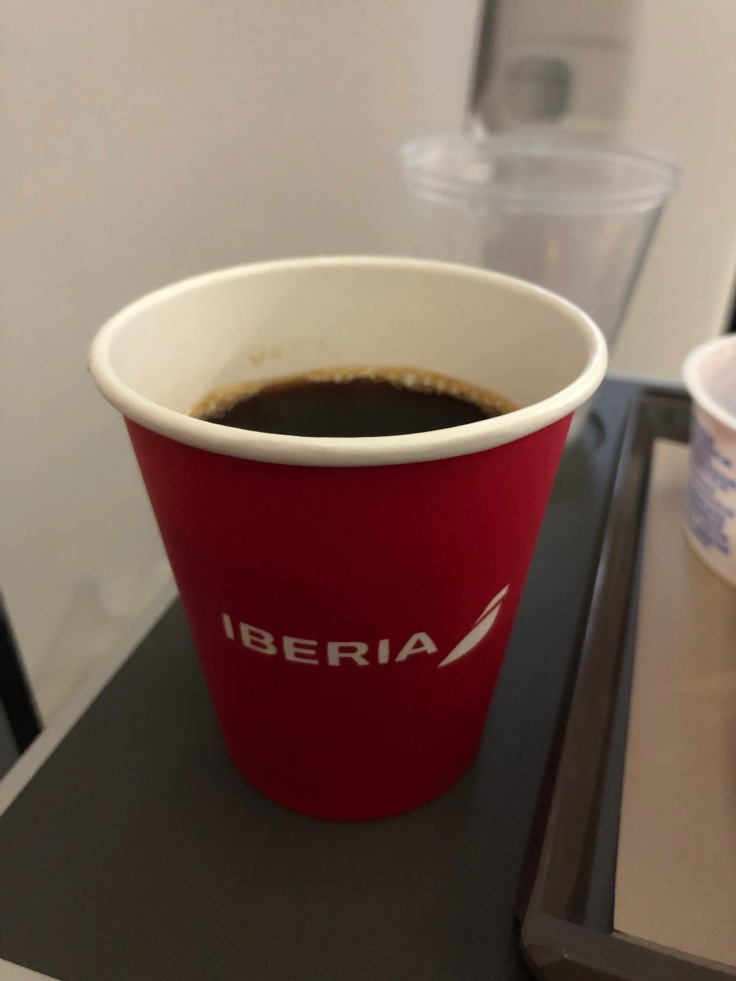 2019 iberia premium economy 06 02 breakfast coffee