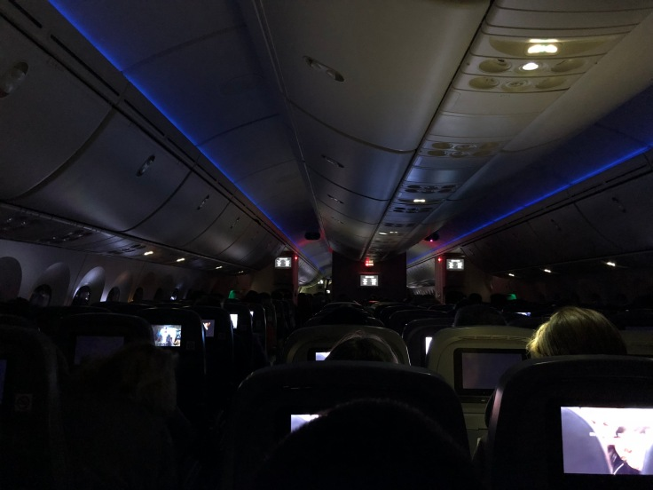 2019 Norwegian Air 02.5 cabin view lights out