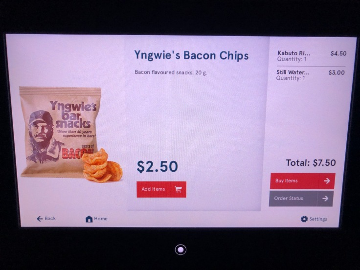 2019 Norwegian Air 06 menu bacon chips