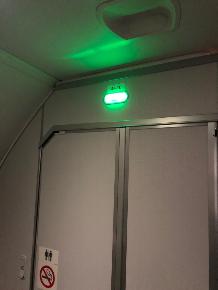 2019 Norwegian Air 07 lavatory convenience light