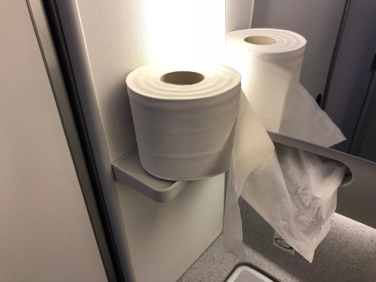 2019 Norwegian Air 07 lavatory janky paper towels