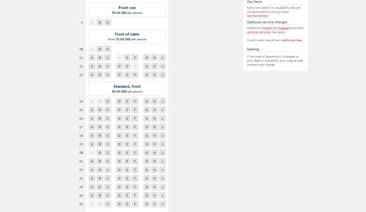 2019 Norwegian Air Booking 07 Seat Selection 2