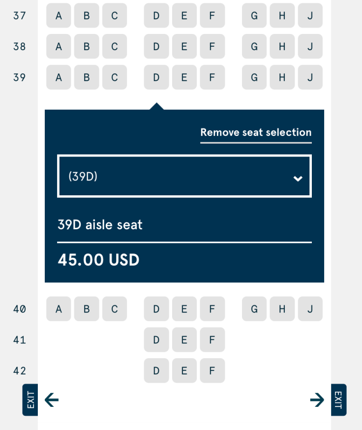 2019 Norwegian Air Booking 07 Seat Selection 4