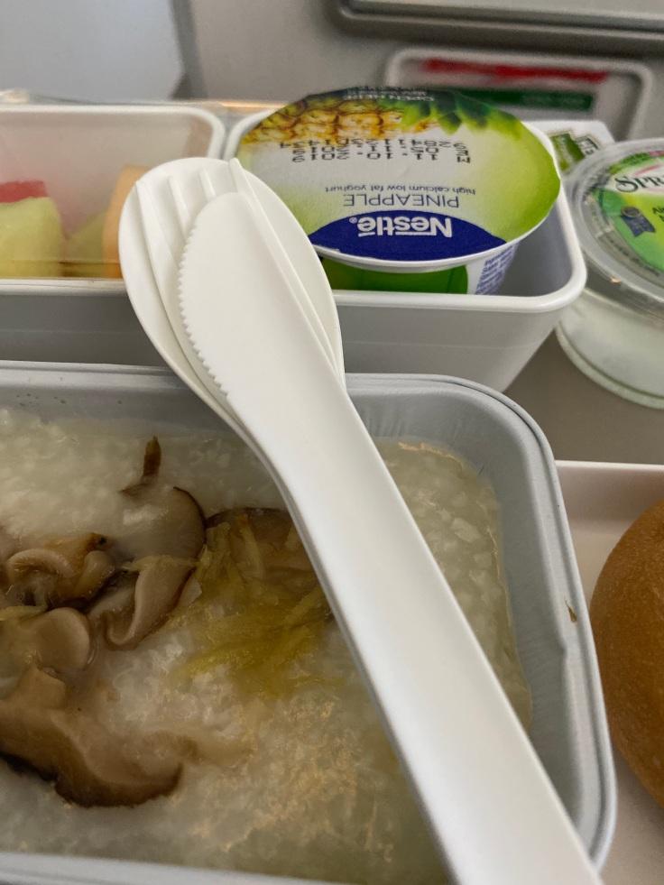 Cathay Pacific Premium Economy Dinnerware