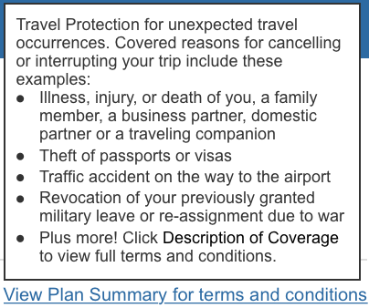 Terms and Conditions Trip Insurance