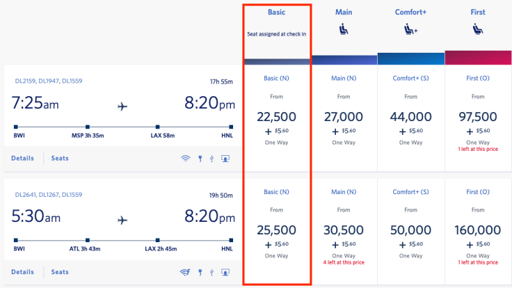 What is Basic Economy Delta Award Pricing