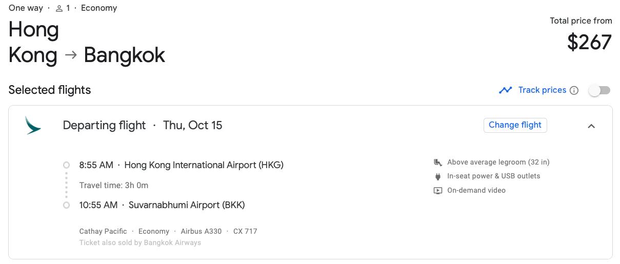 2019 Cathay Pacific Premium Economy 00 google flights regular economy