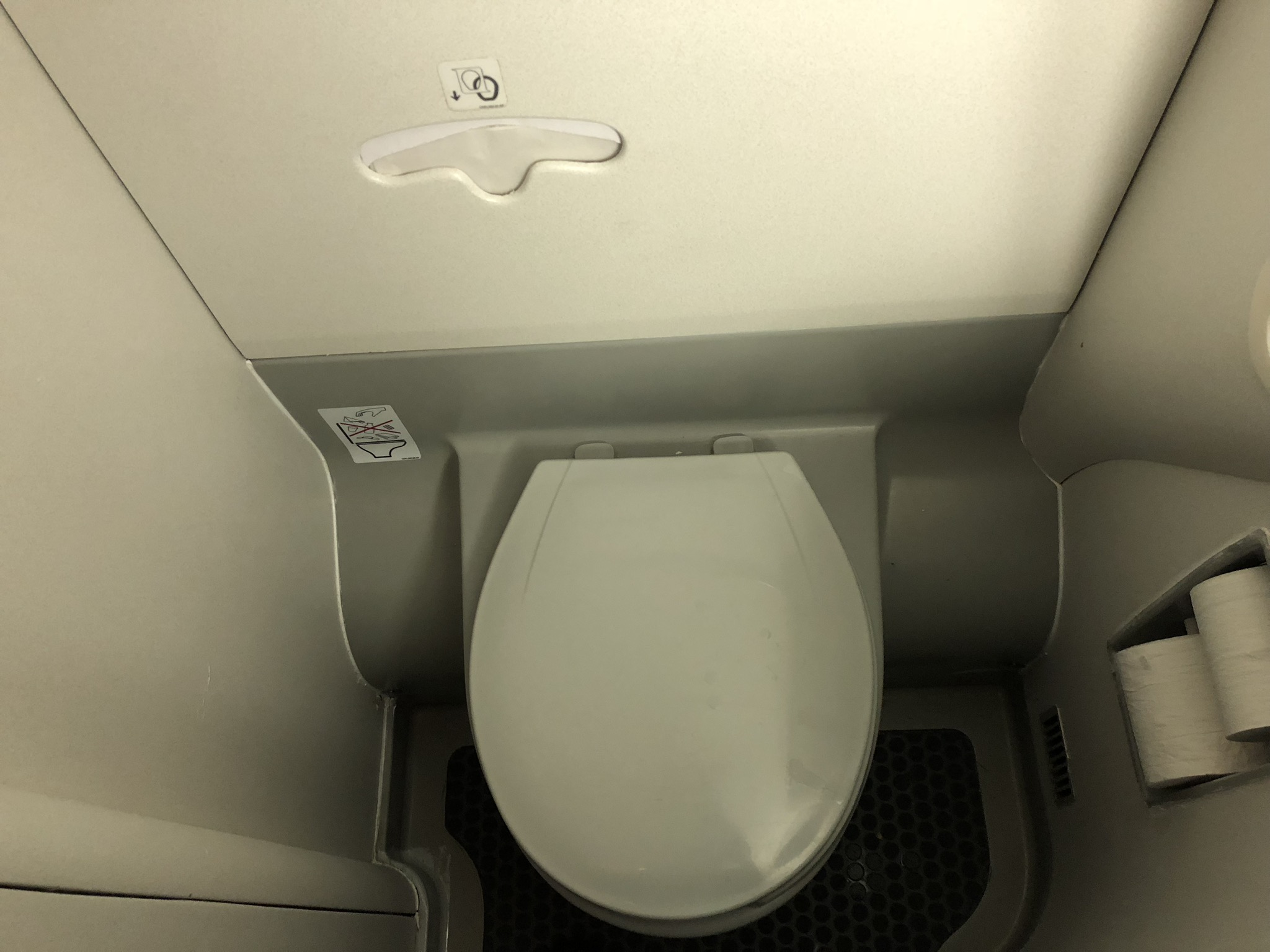 2020 american airlines domestic first hard bathroom toilet