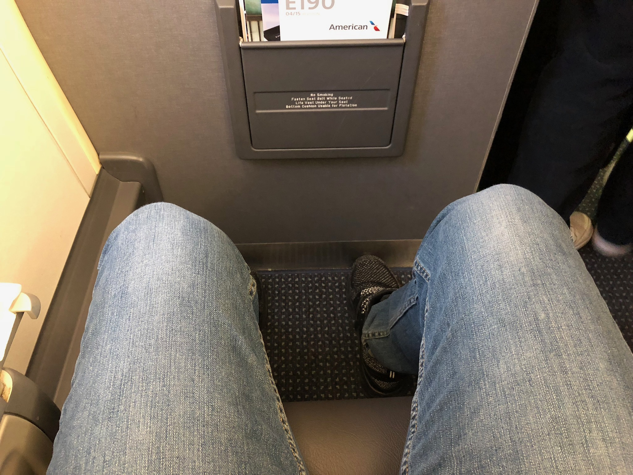 2020 american airlines domestic first hard bulkhead legroom