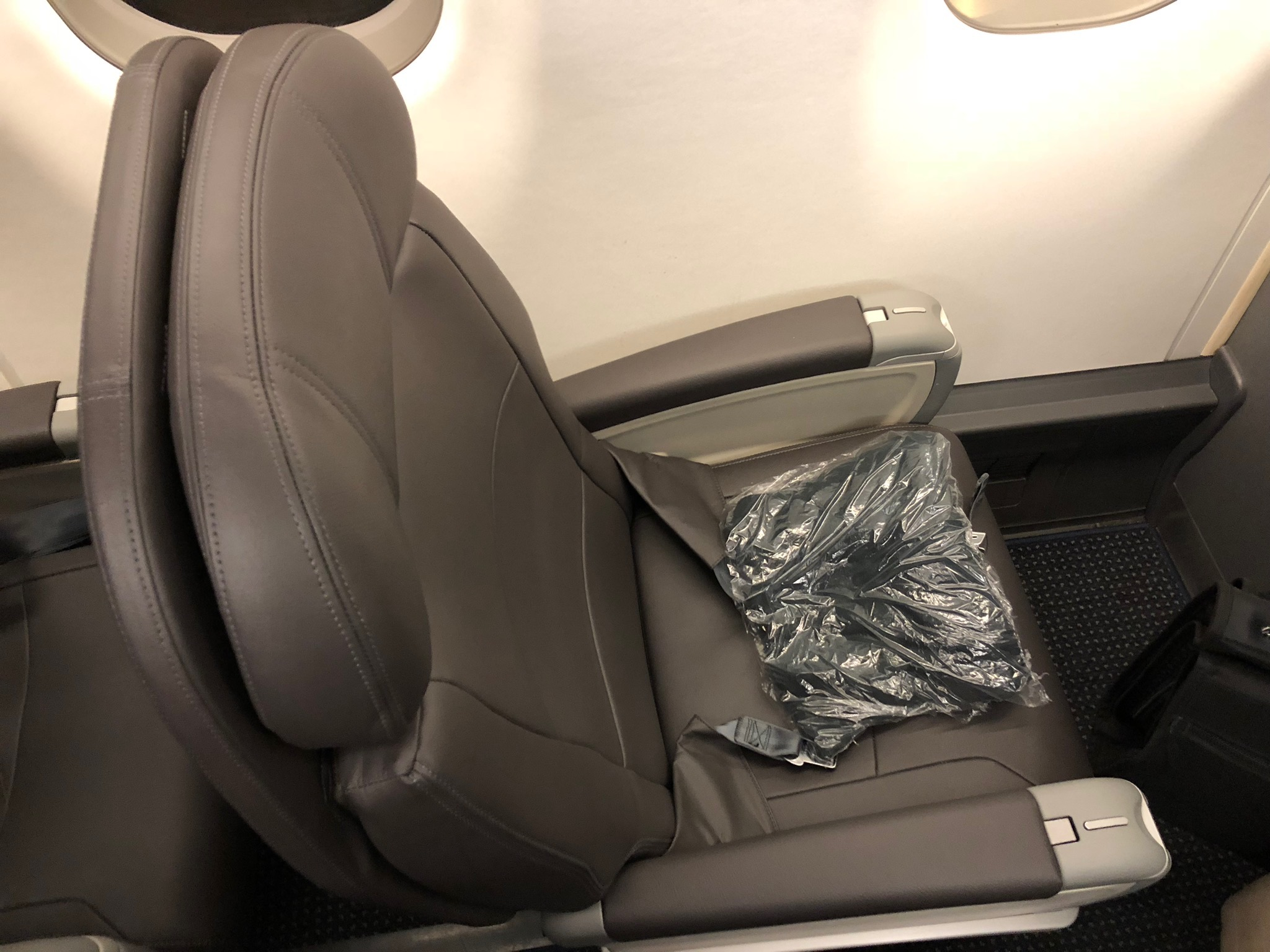 2020 american airlines domestic first hard seat above view