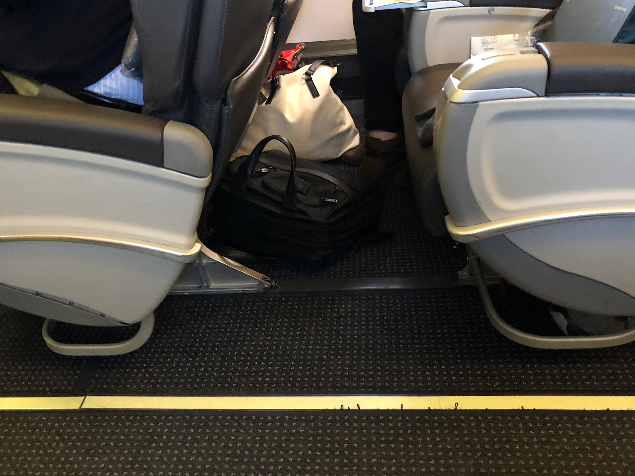 2020 american airlines domestic first hard seat pitch