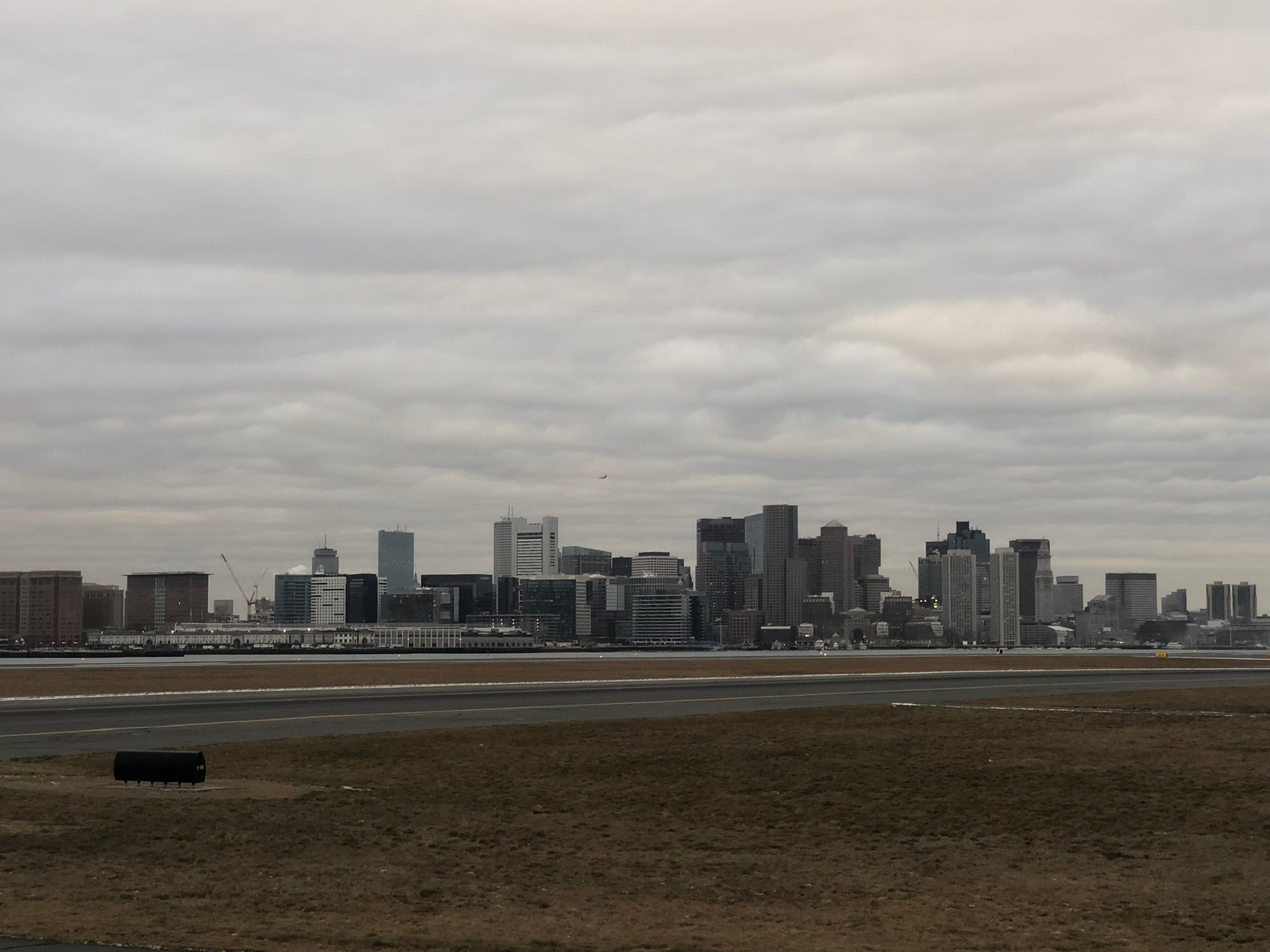 2020 american airlines domestic first view boston skyline